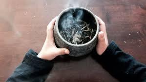 Salvie hvit salvie white sage røkelse incense kjøp egenskap bruke norsk nettbutikk mystica