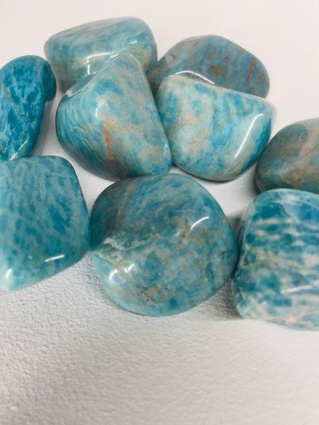 amazonitt amasonitt amazonite tromlet sten lommestein anheng stein krystall egenskap healing artikkel chakra angst kjøp nær deg drammen mystica