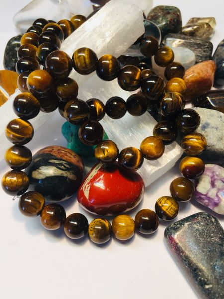 tigerøye armbånd smykke krystall stensmykke mineral betydning healing chakra kjøpe nær deg