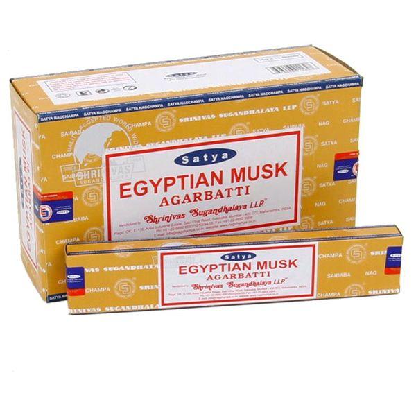 egyptian musk satya røkelse incense røkelsepinner pinner duftpinner alternativ butikk kjøp nær deg hvor finne