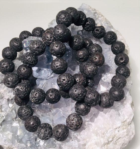 lava lavasten basalt armbånd herre smykke guttesmykke tøft krystall energi mineral nettbutikk norsk mystica