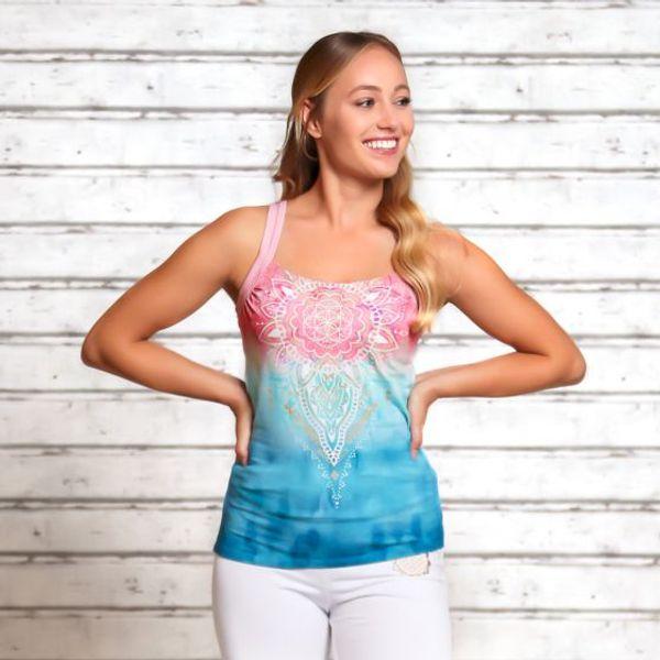 Yogatopp fra Spirit of OM med Mandala mønster